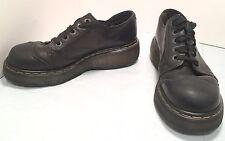 Dr. Martens UK 7 Black Leather Wingtip Oxfords Women's 8.5 to 9 M Shoes