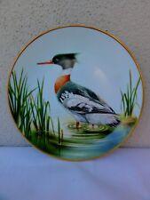 "Danbury Mint - 12 Waterbird Plates - "" Red Breasted Merganser "" Plate"