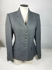 Reed Hill Ladies Gray Jacket Pinstripe Equestrian Size 10 Fox Buttons Vintage