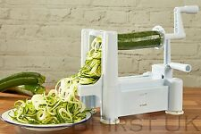 Tri Blade Spiral Slicer Chopper Cutter Twister Peeler Spiralizer Vegetable Fruit