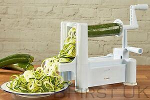 Tri Blade Spiral Slicer Chopper Cutter Twister Peeler Spiralizer Vegetable Fruit