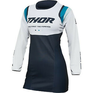 Thor 2022 Women's Pulse REV Jersey Midnight Blue/White All Sizes