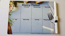 Magnetic Weekly Planner Meal Memo Fridge A5 Dry wipe Diet Budget