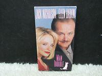 1992 Man Trouble Jack Nicholson/Ellen Barkin Penta Pictures Video VHS Tape