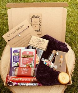 Letterbox Gift Box, Get Well Soon Wishes, Pamper Hamper, Post Hug