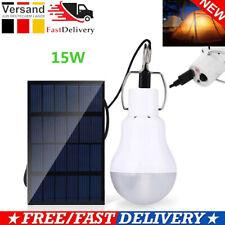 15W LED Solar Lampe Glühbirne Solarleuchte Campinglampe Garten Außen-Beleuchtung