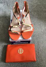 Lunar Orange Shoes + Orange Handbag Both New With Box