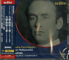 WILHELM FURTWANGLER & BRAHMS: SYM.4. 3-IMPORT SACD WITH JAPAN OBI Ltd/Ed M93