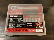 New CRAFTSMAN 60pc Piece Mechanics TOOL SET w STORAGE CASE, SAE n Metric Socket