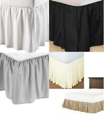Split Corner Dust Ruffle Bed Skirt 625 Cotton Solid Cotton Drop 13 in to 23 in