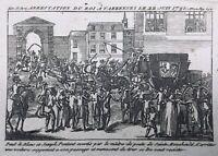 Marie Antoinette 1791 Fuite de Varennes Retour de Louis 16 Sainte Menehould