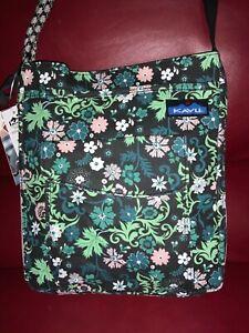 KAVU Sidewinder Crossbody Bag ~ Whimsical Meadow