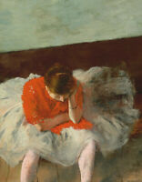 The Dance Lesson Ballerina Edgar Degas Fine Art Print on CANVAS Repro Small 8x10
