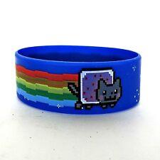 Nyan Cat Rubber Band Bracelet Wristband Hot Topic Rainbow Meme Cuff Cartoon Punk