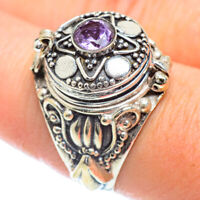 Amethyst 925 Sterling Silver Poison Ring Size 9 Ana Co Jewelry R54553