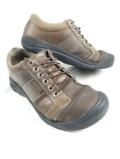 KEEN Mens Austin Brown Leather Hiking Trail Casual Shoes Size 8.5 US 1007722