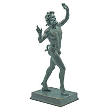 "10.5"" Large Pompeii Satyr Faunus Bacchus Pan Horned Forest God Statue Sculpture"