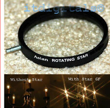 62mm Rotating Star 6F Lens Filter Six Point Flares Stars Special Light Effect
