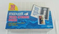 Maxwell Clear VHS Videocassette Storage Case 10 Pack New Sealed