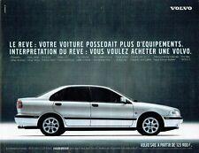 Publicité Advertising 087  1998  la Volvo S40