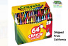 Crayola Crayons Box with Built-In Sharpener 64 Count assorted colors (Sealed)