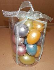"""Easter Ornaments Decor Foam Eggs 2"""" & 2 3/4"""" 18ea Total Solid Color  108U"""