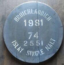 Bruichladdich Distillery,Single Malt Whisky Barrel Lid cask end , ready to hang
