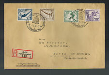 1936 Berlin Germany Olympics Stamps Cancel Cover to Czechoslovakia