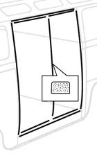 Side Cargo Door Seals, GREY as Original (9 Pieces) 50-67. VW Splitscreen
