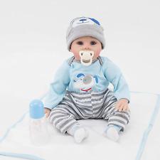 ZIYIUI Lifelike 22 Inch 55 cm Reborn Baby Doll Silicone Vinyl Soft Realistic Boy