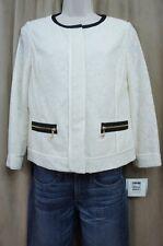 Anne Klein Suit Separates Sz 4 Ivory SKYLINE Lace Full Zip Career Suit Jacket