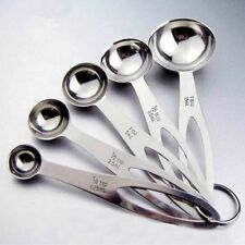 Stainless Steel Measuring Spoons Tea Coffee Measure Utensil Cooking 1Set/5pcs