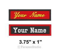 "Custom Embroidered Name Tag Sew on Patch Motorcycle Biker Patches 3.75"" x 1"" (B)"