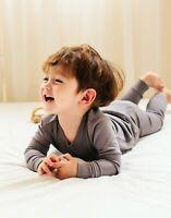 "Vaenait Baby Toddler Kids Clothes Long  Pajama Set ""Modal Grey"" 18M-12Y"