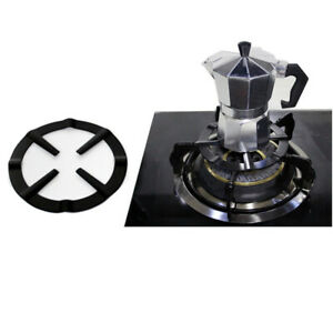 1pc Iron Gas Stove Cooker Plate Coffee Moka Pot Stand Reducer Ring Hol.eo