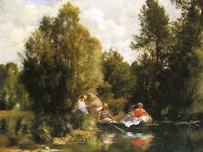 "The Fairies Pond 1866 by Pierre Auguste Renoir -17"" x 22"" Fine Art Print - 01118"