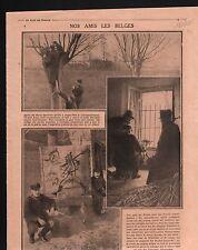 WWI Mitrailleuse Machine-Gun Belgique/Insigne Journée 75 Paris 1915 ILLUSTRATION