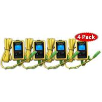 Battery Saver 6 & 12 Volt Micro-Maintainer, Charger and Tester 10W 4 Pack 6000