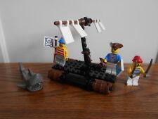 CASTAWAY'S RAFT Legoland Pirates 6257 LEGO with shark minifigure + instructions