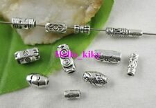 400pcs Mixed Style Tibetan Silver Tube Spacer Beads M3643