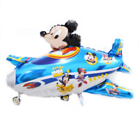 XL Helium Folienballon Disney Micky Maus im Flugzeug BLAU Kinder Geschenk Dekor