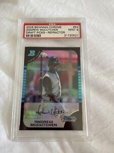 2005 bowman chrome draft picks refractor #63 ANDREW McCUTCHEN rookie card PSA 9