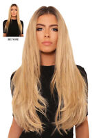 """LullaBellz 20"""" 2 Piece Hair Extensions - Double Thick Straight"""