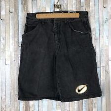 052a9be4 Vtg Nike 34 Rare Retro Black Swoosh Long Denim Jean Shorts USA 80s 90s