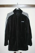 Adidas Vtg Full Zip Velour Track Jacket Men Medium Multi Black White Hip Hop Euc