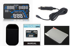 "GPS Speed Warning System Fuel Consumption Q7 5.5"" Car HUD Head Up Display"