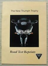 TRIUMPH TROPHY MOTORCYCLE Road Test Reprints Publicity Sales Brochure 1996