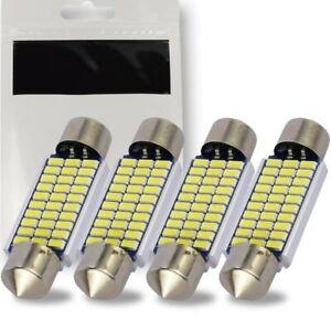 4x Ampoule C5W 39mm Navette LED 12V Blanc 6500K Canbus pour Plafonnier Plaque