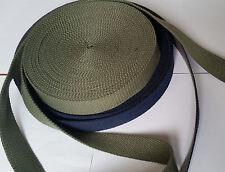 30 mm strong green and blue/grey CANVAS webbing Bag Handle Belt DIY TWILL Yoga