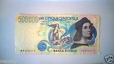 BANCONOTA Lire 500.000 RAFFAELLO - Italian Lire Banknote 500.000
